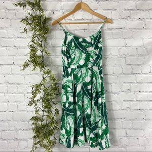 Old Navy Tropical Palm Print Summer Dress M